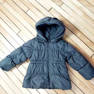 Old Navy girl puffer jacket fleece lining